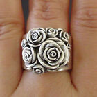 Gorgeous Flower 925 Silver Rings For Women Jewelry Party Rings Size 6-10