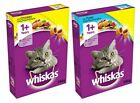 Whiskas 1+ Complete Dry Cat Food Tuna / Chicken Filled Pockets 6 x 340g Fast Dry