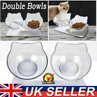 Double Non-slip Pet Bowls with Raised Stand Dog Cat Food Water Feeding Station
