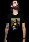Mona Lisa 2020 With Protect Mask Gloves Soap Funny Fan Art Black T-Shirt S-3XL