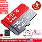 New 256GB Micro Memory SD Card 4K Class10 Flash TF Card with Adapter Fr Phone