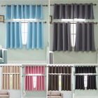 Blackout Short Curtains Kitchen Living Room Bedroom Small Window Curtain Drape