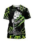 FOX-RACING & MONSTER-ENERGY-TRENDY-TEES-3D-T Shirt-Size S-5XL