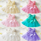 Cute Babys Flowers Girl Tutu Tulle Princess Dress Party Dress Wedding Bridesmaid