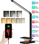 LED Metal Dimmable Reading Desk Lamp Flexible Touch Bedside Table Night Light