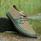 Summer Mens Beach Breathable Mesh Casual Lace Up Shoes Driving Loafers Shoes New
