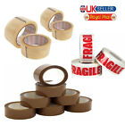 LONG LENGTH PACKING TAPE STRONG - BROWN / CLEAR / FRAGILE  PARCEL TAPE Lot