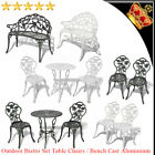 Outdoor Setting Bistro Set Garden Patio Dining Table Chairs Bench Cast Aluminium
