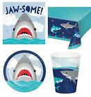 Shark Party - Birthday Range Tableware, Banners, Balloons & Decorations