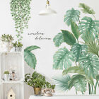 Wall Stickers Pvc Green Tropical Leaves Plant Decal Nursery Art Mural Home Decor