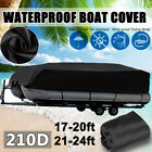 17-24ft Boat Cover Heavy Duty Waterproof Trailable Fits Pontoon Beam Deck Boats