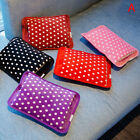 Arctic Cotton Polka Dot Hot Water Bag Electric Rechargeable Heat Hand Warmer OS