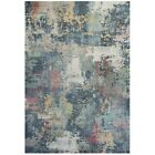 Navy Blue Distressed Look Rugs Abstract Living Room Bedroom Mats Large Small Rug