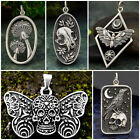 Crow Butterfly Punk Gothic Retro Skeleton Pendant Necklace Men Or Women Jewelry