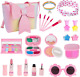 Kids Makeup Kit for Girl, Washable Real Makeup Set for Little Girl with Purse, P photo