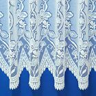 ANDREA HEAVYWEIGHT JACQUARD NET CURTAIN WHITE OR CREAM. SOLD BY THE METRE