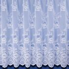 CLUMBER HEAVY WEIGHT JACQUARD NET CURTAIN IN WHITE. SOLD BY THE METRE