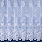 Clumber Heavyweight Jacquard Net Curtain - Sold By The Metre - Finished In White