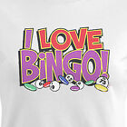 I Love Bingo women T-Shirt gambling new humor casino