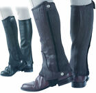 Shires Adults Quality Leather Half Chaps  Black / Brown