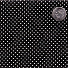 POLY COTTON BLEND CLOTH DRESS FABRIC 2mm MINI WHITE POLKA DOT BLACK PINK RED 44""