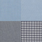 "CHAMBRAY YARN DYED COTTON FABRIC CHECK SOLID MELANGE COMBINATION BLUE NAVY 44""W"
