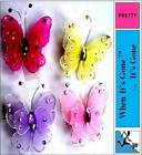 PRETTY DIAMOND JEWELLED SILVER WIRED BUTTERFLY MAGNETS