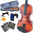 MENDINI FULL SIZE 4 4 VIOLIN SOLIDWOOD SATIN ANTIQUE+TUNER+SHOULDERREST 4 4MV300