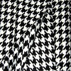 HEAVY ACRYLIC JACKET COAT FABRIC BIG HOUNDSTOOTH BLACK