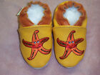 moxies yellow leather soft soled baby shoes pick size
