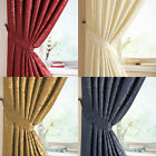 "LANA 3"" TAPE DAMASK FULLY LINED CURTAINS IN 4 COLOURS"