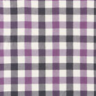 YARN DYED CHAMBRAY COTTON 100% FABRIC MELANGE HOMESPUN CHECK PLAID PURPLE 44'W