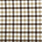 "CHAMBRAY YARN DYED COTTON FABRIC VINTAGE PLAID CHECKED PAJAMAS STRIPE BEIGE 44""W"