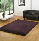 Quality Shaggy Thick Rug in Purple Black Various Sizes
