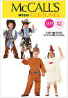 McCall's 7226 Sewing Pattern to MAKE Quick Easy Child Cowboys & Indians Costumes