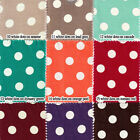 "LINEN DRESS BOUTIQUE COUTURE FABRIC 1/2"" POLKA DOT DOTTY SPOT CLOTH DRAPERY 54""W"