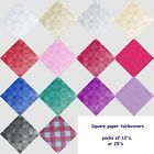 SQUARE PAPER TABLECOVER TABLE COVERS CLOTHS PK 10 OR 25