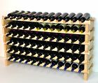 Modular Stackable Wine Rack 48-144 Bottles Capacity Solid Beechwood Racks 12X