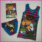 BEN 10 - 2 pc Kids Underwear Set BRIEFS UNDIES & SINGLET VEST  Ben10 Sz 6 - 8