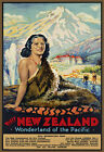 T41 Vintage Visit New Zealand Travel Poster A1 A2 A3