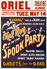 M58 Vintage Spooky Magic Theatre Poster Print A1 A2 A3