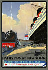 R23 Vintage New York - Paris Travel Poster A1 A2 A3