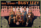 TH23 Vintage Musical Busy Izzy Theatre Poster A1 A2 A3