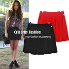 sk17 ON SALE! REG$20 Celebrity Style Red Pleated Mini Skirt