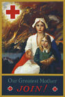 W71 Vintage WWI Join The Red Cross Recruitiment War Poster WW1 A1 A2 A3