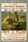 WA20 Vintage WWI Lifeboat Buy A Flag British Fund Raising War Poster A1 A2 A3