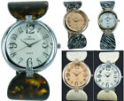 Prince London NY coloured animal effect cuff watch Rose Gold Silver bezel