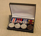 Deluxe Display / Presentation Case for 2, 3 or 4 Medals with Ribbons - 4 colours