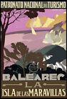 TT78 Vintage Balearic Islands Spain Spanish Travel Poster - A3/A2