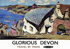 TT85 Vintage Glorious Devon Railway Travel Poster A3 A2 Re-print